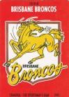 1991 Stimorol 012 Brisbane Broncos Logo Card