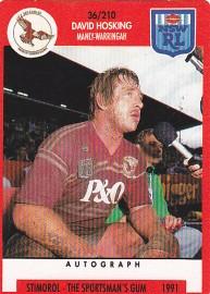 1991 Stimorol 036 David Hosking Manly-Warringah Sea Eagles