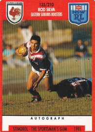 1991 Stimorol 135 Rod Silva Eastern Suburbs Roosters