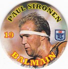 1994 Coca-Cola QLD Pog #19 - Paul Sironen