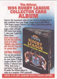 1994 Rugby League Album Token Offer