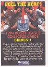 1994 Series 1 Rugby League Promotional Material