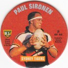 1995 Coca-Cola Footy Face Pogs #02 - Paul Sironen