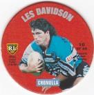 1995 Coca-Cola Footy Face Pogs #10 - Les Davidson