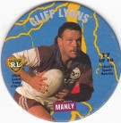1995 Coca-Cola Footy Face Pogs #17 - Cliff Lyons