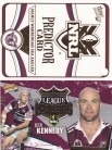 2006 Invincible Predictor and League Leader - Manly Sea Eagles