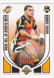 2007 Invincible CP15 Club Player of the Year Robbie Farah
