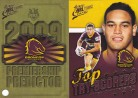 2009 Classic PC01 Predictor & Top Try Scorer - Broncos