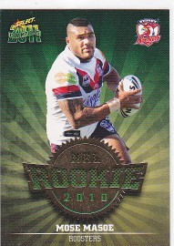 2011 Champions R51 Rookie Card Mose Masoe