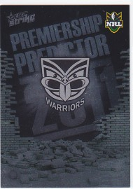 2011 Strike PP15 Premiership Predictor Warriors