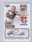 2021 Elite League Sensations White Signature LS08 - Mitchell Barnett #05/80