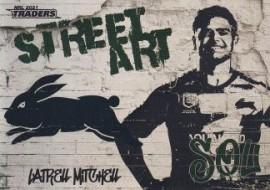 2021 Traders Street Art White SAW12 - Latrell Mitchell