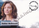Smallville Season 6 Autograph Card A53 - Amber McDonald as Gloria