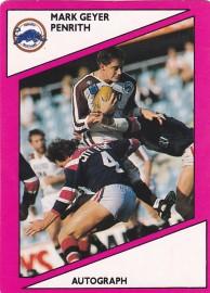1988 Scanlens Penrith Panthers #102 - Mark Geyer