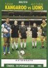 1991 Stimorol 203 Kangaroo v Lions Tour Action - Test Captains & Match Officials