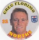 1994 Coca-Cola QLD Pog #32 - Greg Florimo