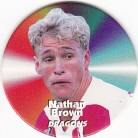 1997 Fatty's Turn it Up Pog #33 - Nathan Brown