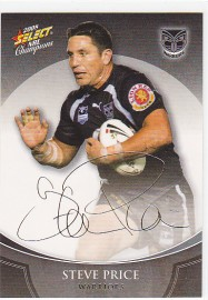 2008 Champions FS43 Foiled Signature Steve Price
