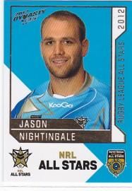 2012 Dynasty AS22 NRL All Stars Jason Nightingale