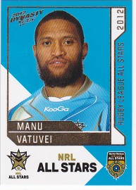 2012 Dynasty AS25 NRL All Stars Manu Vatuvei
