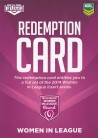 2014 Elite Women in League Redemption Card