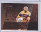 2020 Traders Bronze Authentic Series Signature ASB01 - Payne Haas