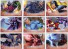 Marvel Avengers Kree-Skrull War 9 Card Character Set