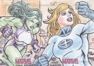 Women of Marvel 2 Sketch She-Hulk & Invisible Woman by Jake Sumbing